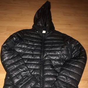 Shinny Black Puffy coat